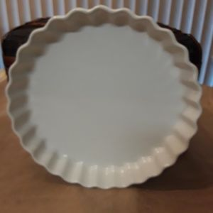 Tart Flan Quiche Baking Dish Fluted Crimped